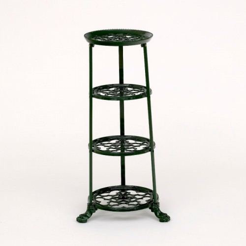 Green Cast Iron Pot and Pan Rack