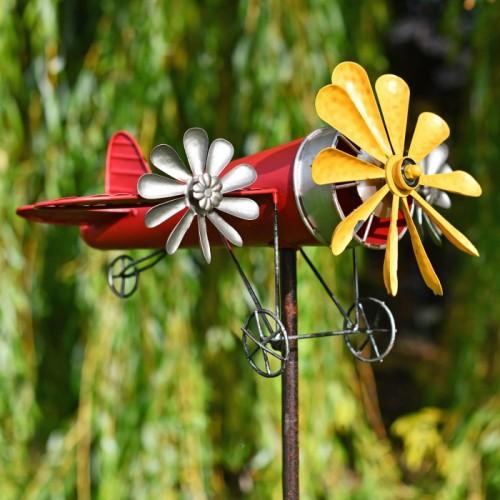 Aeroplane Garden Wind Spinner