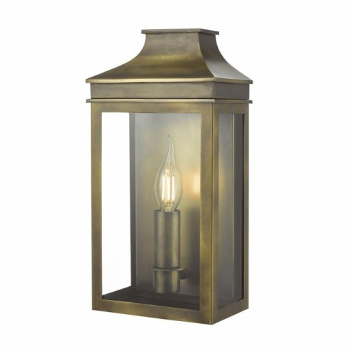 Traditional Flush Wall Light in an Antique Brass