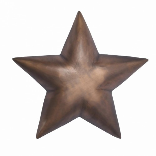 Star Wall Decoration Finished in an Antique Bronze
