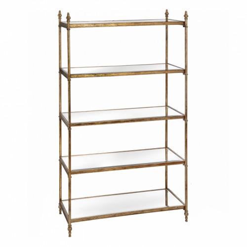 Antique Gold Large Bookshelf