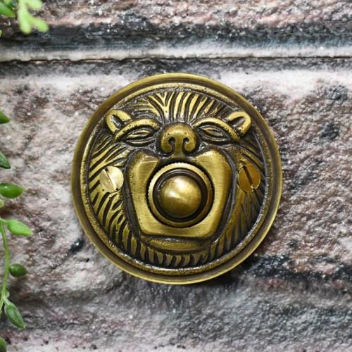 Antique Brass Lion face door bell