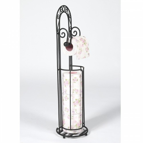 """Bella Jane"" Vintage Floor Standing Toilet Roll Holder Holding a Toilet Roll"