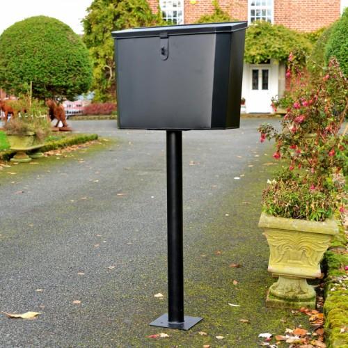 """Billingsgate"" Large Secure Parcel Box  Sitting on a Column Outside a House"