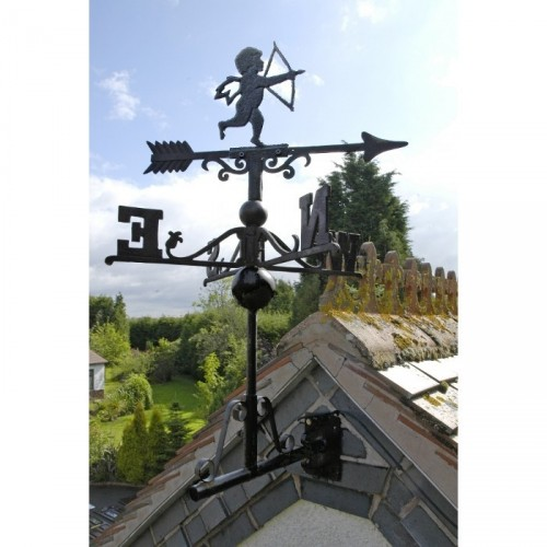 "Cast Iron ""Cherub""Weathervane in Situ"