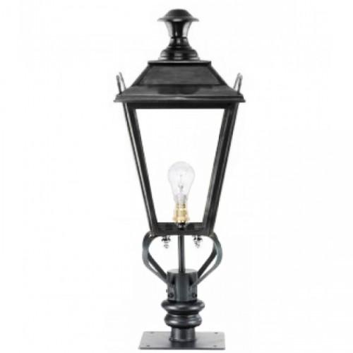 Black Dorchester Pillar Light and Lantern Set 71cm