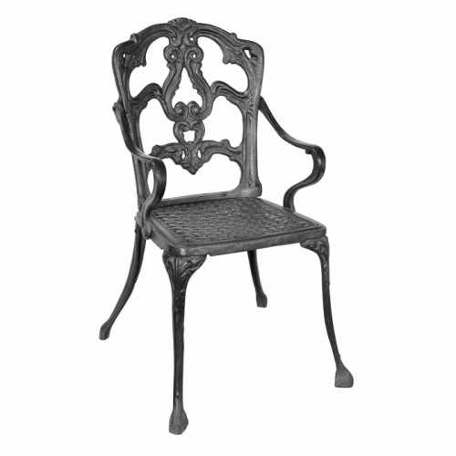 Cast Iron Victorian Chair in a Black Finish