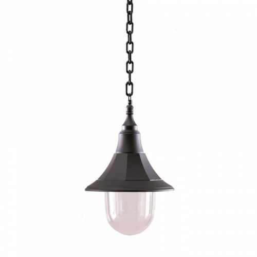 Black Classic Conical Chain Hanging Light