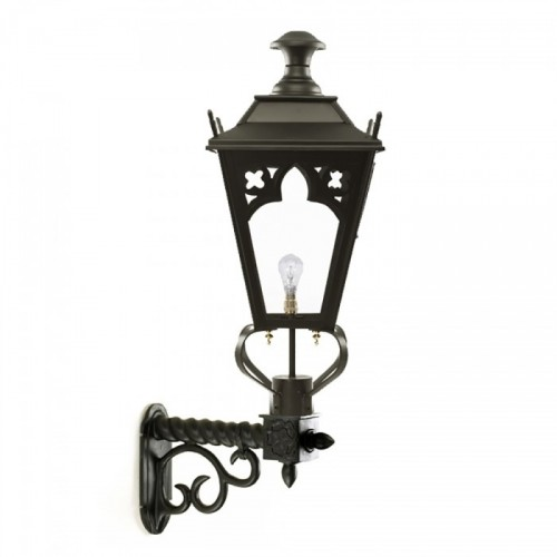 Black Gothic Wall Light on an Ornate Wall Bracket