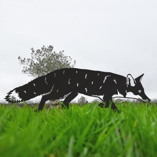 Iron Silhouette Fox in Black