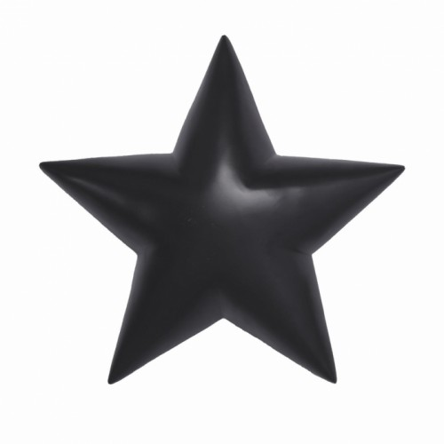 Star Wall Decoration Finished in Black