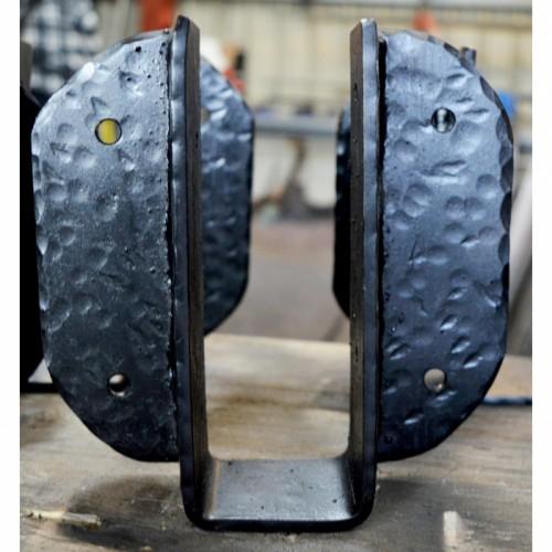 Blacksmith Joist Hanger in a Black Finish