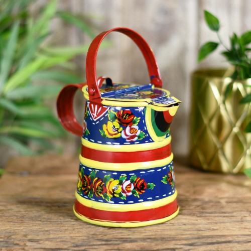 Traditional Watering Can Finished in Blue