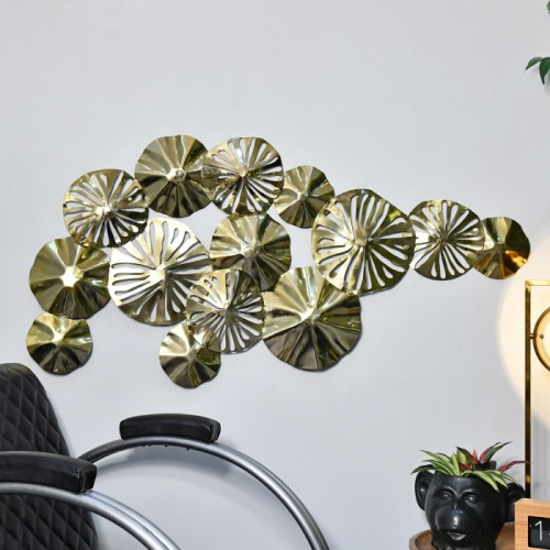 Brass Lilly Pad Wall Art in Situ in the Home