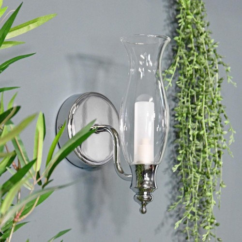 Old Style Gas Lamp Bathroom Wall Light Mounted Flush