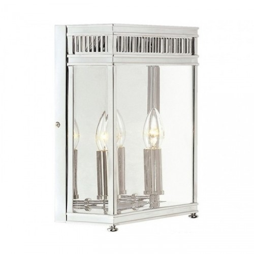 Twin Bulb Wall Light In a Bright Chrome Finish