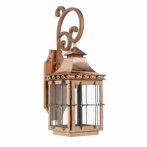 """Brighton"" Wall Lantern Finished in Copper"
