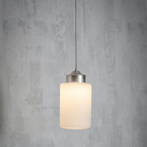 Brushed Nickel Bathroom Hanging Light in Situ