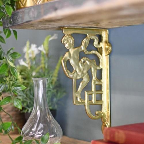 Polished brass cherub Wall bracket