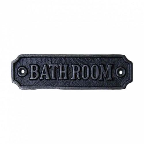 "Cast Iron ""Bathroom"" Sign"
