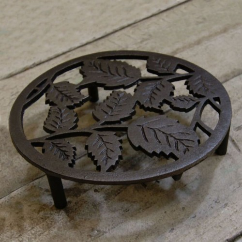 Leave Design Cast Iron Trivet