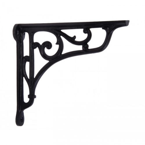 Large Scrolled Brackets Finished in Natural Iron