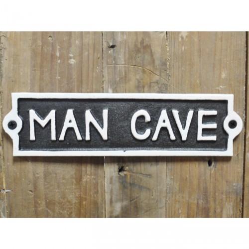 """Man Cave"" Cast Iron Sign"