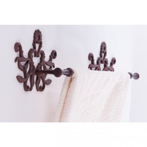 cast iron towel holder wall mounted