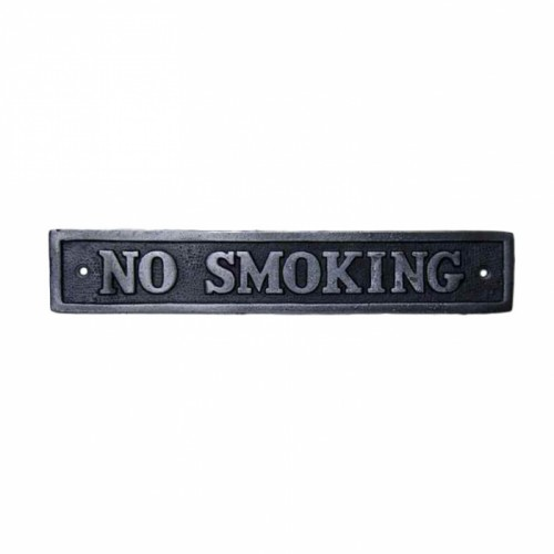 "Cast Iron ""No Smoking"" Sign"