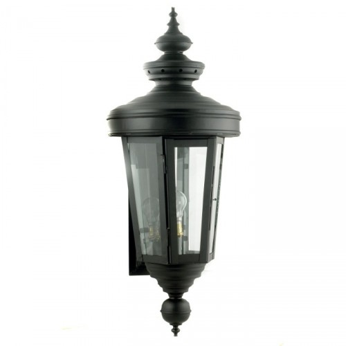 """Cheltenham"" Wall Lantern Finished in Black"