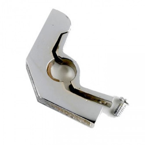 "Hinged Bracket with Flat Head Screw - 5/8"" Finished in Bright Chrome"