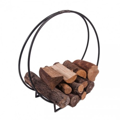 """""""Harewood Park"""" Contemporary Wrought Iron Log Holder in a Natural Iron Finish"""