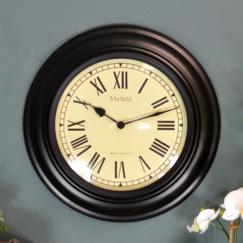 """The""""Barlow""""wall Clock Finished in Black"""