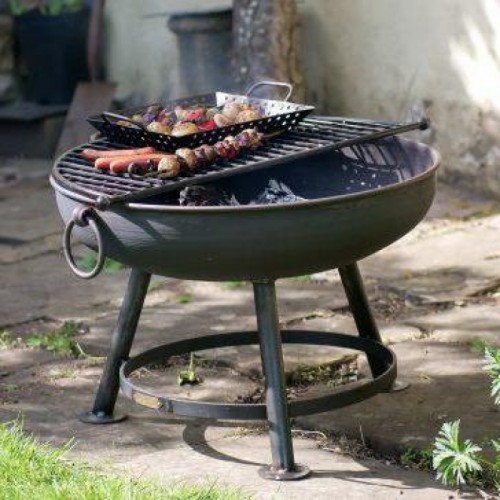 Classic Fire Pit in Situ in the Garden cooking Food