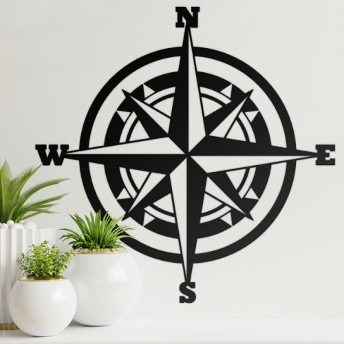 Compass Wall Art in the Home