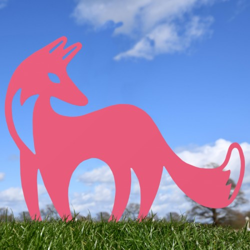 Pink Contemporary Fox Silhouette