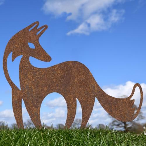 Rustic Contemporary Fox Silhouette