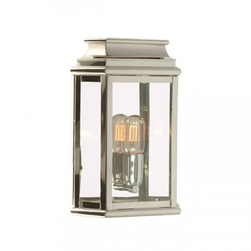 traditional Porch Light Finished in a Polished Nickel
