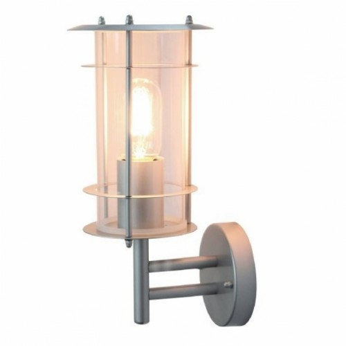 Contemporary Silver Wall Lantern Made From Stainless Steel