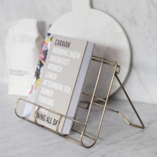 Antique Brass Cook Book Holder