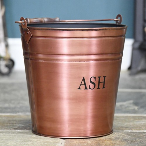 Ash Bucket in a Copper Finish