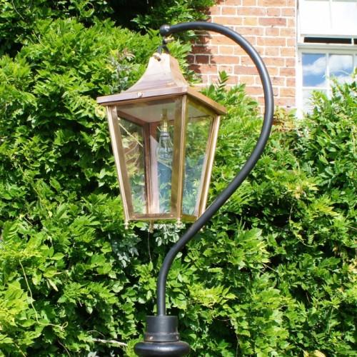 Medium Copper Swan Neck Lantern