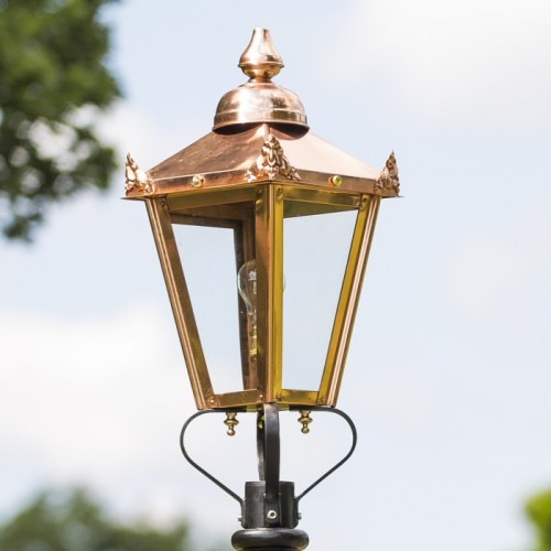 Copper Victorian Lamp Post Top