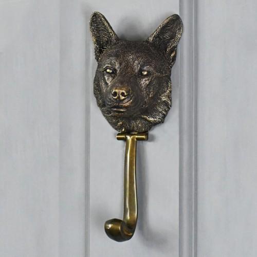 Bronze Finish Corgi Dog Door Knocker