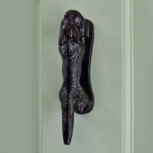 Black Iron Running fox door knocker