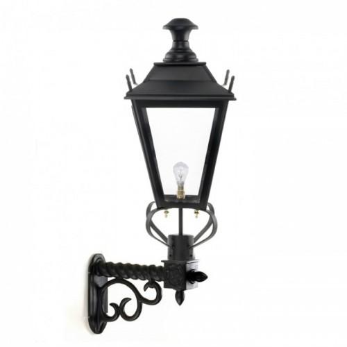 Black Dorchester Lantern On An Ornate Royale Bracket