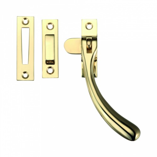 Brass Casement Window Fastener - Polished Brass