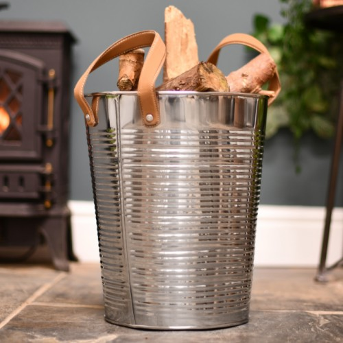 Stainless Steel round log basket