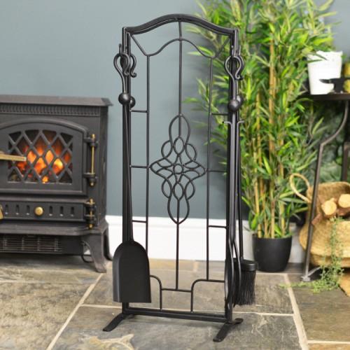 """Dawnmead House"" Gothic Fireside Companion Set"