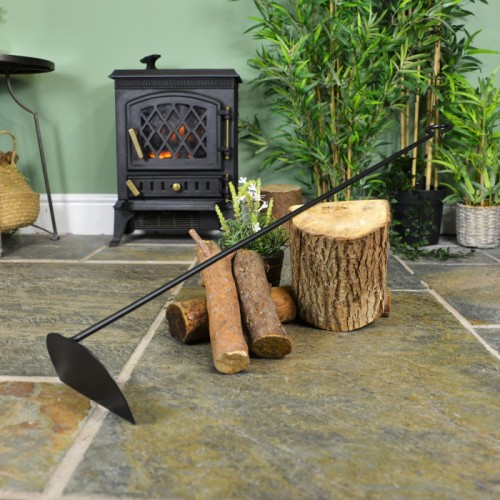 Extra Long Rake Tool Next to the Fire Place